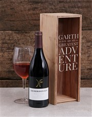 This gorgeous personalised wine crate combo is suc