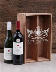 Personalised Coat of Arms Wine Crate