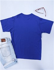 Be each other's superhero with this royal blue T-s