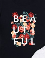 Make life beautiful with this black ladies T-shirt