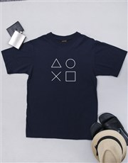Make that gamer's day with this navy T-shirt which
