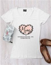 Personalised Mom Heart T Shirt
