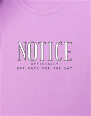 Personalised Officially Off Duty Shirt