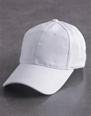 Personalised White Rose Heart Peak Cap