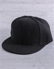 Personalised Black Gold Glitter Peak Cap