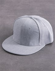 Personalised Grey Chevron Peak Cap