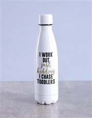 Personalised I Work Out Water Bottle