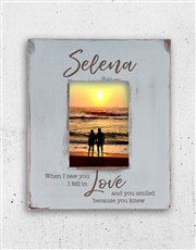 Express your love with a grey photo frame which is