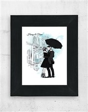 Keep the romance alive with this A3 black frame wh