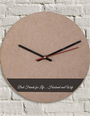Personalised Husband and Wife Clock