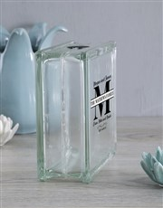 Light up any occasion with this glass brick which