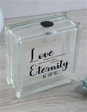 Light up the meaning of love with this glass brick