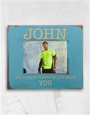 Inspire someone special with a blue photo frame wh