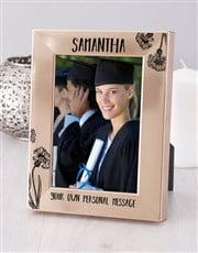 Personalised Message Gold Photo Frame