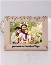 Personalised  Message Photo Frame
