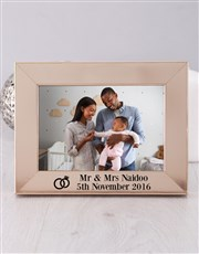 Personalised Mr and Mrs Photo Frame