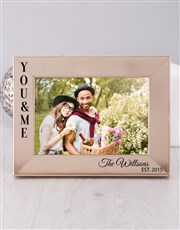 Personalised You and Me Photo Frame