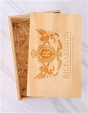 Personalised Crest Whisky and Crystal Crate