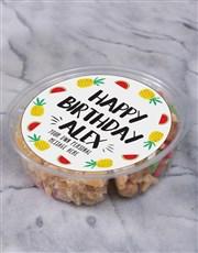 Personalised Birthday Fruit & Nut Tub