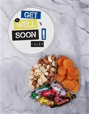 Personalised Get Well Fruit & Nut Tub
