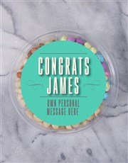 Personalised Congrats Fruit & Nut Tub