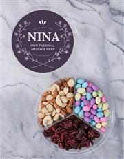 Personalised Elegant Fruit & Nut Tub
