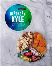 Personalised Gradient Fruit & Nut Tub