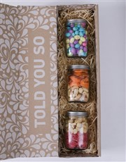 Personalised Easter Fruit and Nut Jar Trio