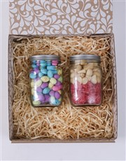 Personalised Happy Fruit and Nut Jar Set