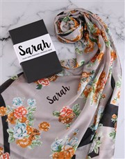 Personalised Floral Scarf Gift