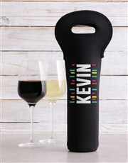 Personalised Surname Wine Carrier