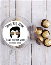 Personalised Elvis Thank You Candy Jar