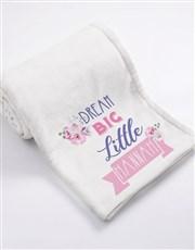 Personalised Dream Big Baby Fleece Blanket