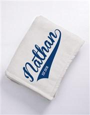 Personalised Baseball Fleece Blanket