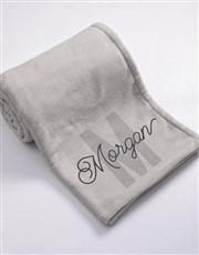 Personalised Initial Baby Fleece Blanket