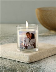 Express your love with this vanilla wax candle whi
