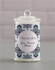Personalised Patterned Candle Jar