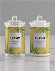 Personalised Leafy Candle Jar