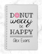 Personalised Donut Worry Notebook