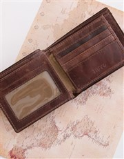 This brown Manhattan leather billfold wallet is th