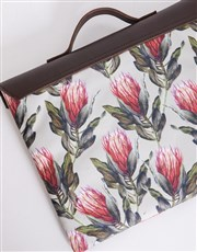 Personalised Protea Laptop Carry Bag