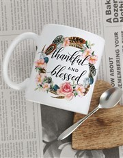 Personalised Thankful and Blessed Mug