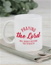 Personalised Pray You Get Well Mug