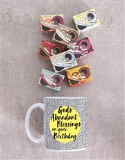 Personalised Abundant Blessings Birthday Mug