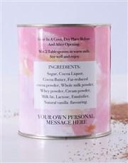 Personalised Hot Chocolate Tin