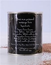 Personalised Hot Chocolate Leafy Tin