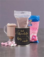 Personalised Black and Gold Hot Chocolate Tin