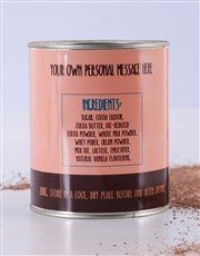 Personalised Top Deck Hot Chocolate Tin