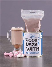 Personalised Blue Hot Chocolate Tin