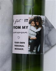 Personalised Photo Mamma Wine